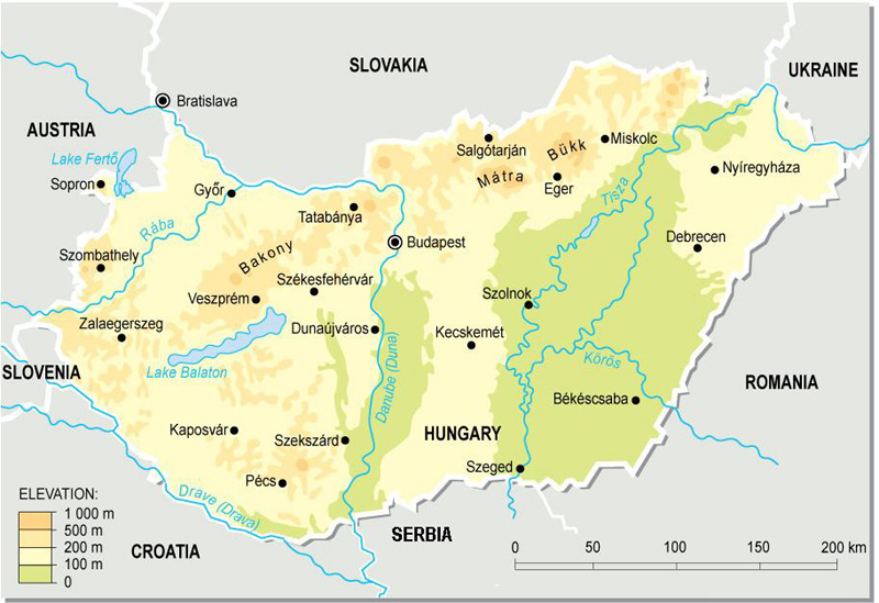 Topographische Karte Ungarn.Ungarn Topographische Karte Filmgroephetaccent